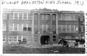 BHS 1915 building, under construction