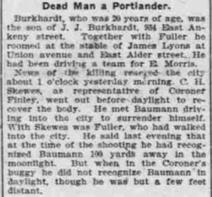 Dead Man a Portlander