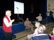 Alta Hansen, Tom Shreve and Elaine Shreve presenting