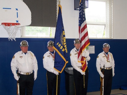 Aloha American Legion Post color guard presenting the colors