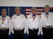 Bill Shield, Terry Delashan, Bill Bennett and Gene Gordon from the Aloha American Legion Post color guard
