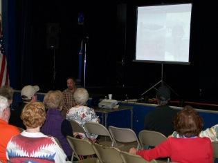 Tom Shreve presenting slide show