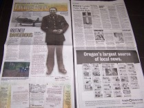 Valley Times article about Lt. Robert Strong, pilot of P-63 Kingcobra that crashed in Garden Home in 1944