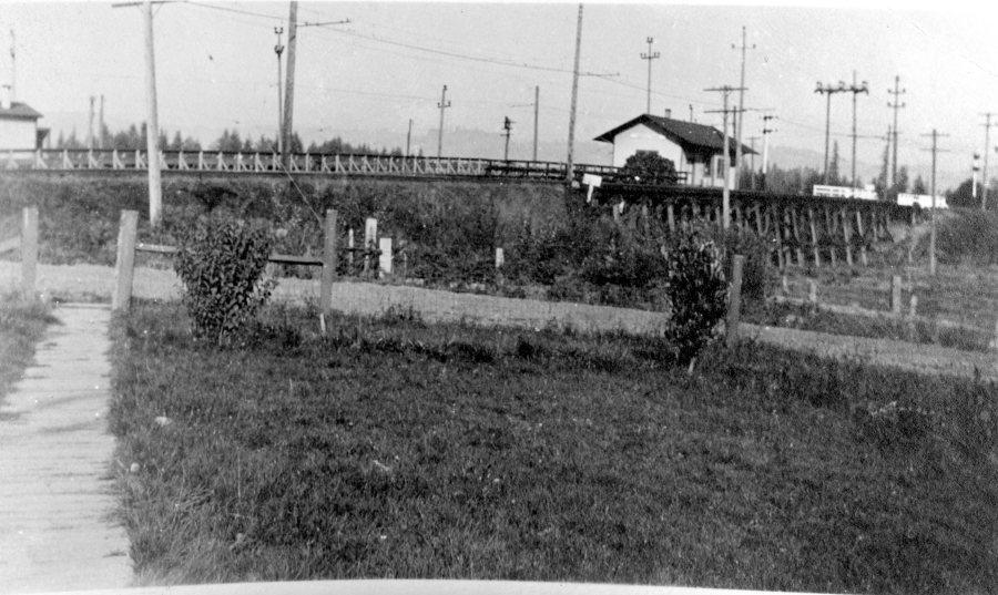 Garden Home train station - rear