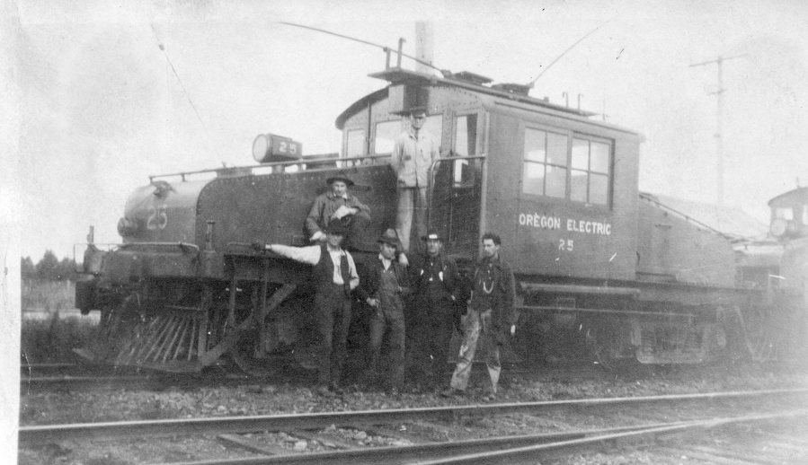Oregon Electric - track construction 2