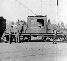 Oregon Electric - track construction 8