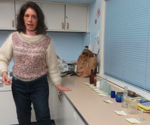 Show and Tell with Cheryl Clark and bottles from Fanno Creek trail dump