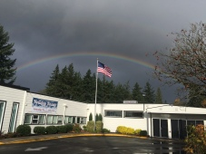 Rainbow over the Garden Home Recreation center