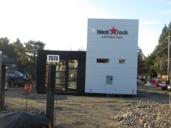 Black Rock Coffee building after installation, Dec 2017