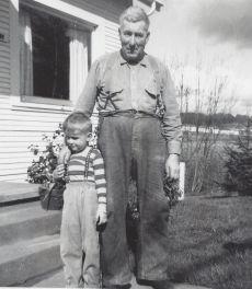 Fred (Fritz) Gertsch Sr. and grandson Robert Gertsch, late 1940s