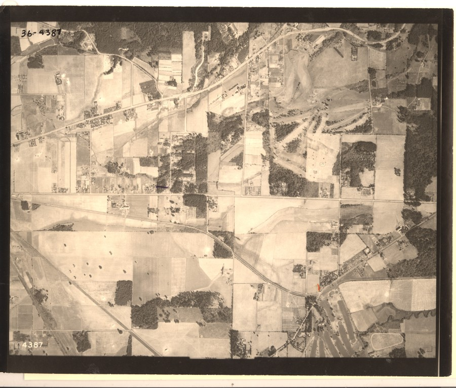 Portland Golf Club and Nichol Riding Academy - 1936 Army Corps of Engineers aerial photo