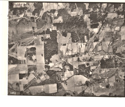 Alpenrose Dairy and Five Corners intersection - 1936 Army Corps of Engineers aerial photo