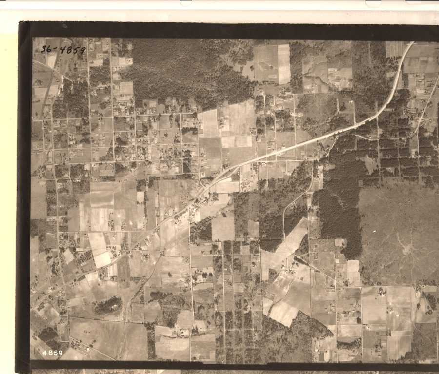 SW Hall Blvd and SW Pacific Hwy (99W) - 1936 Army Corps of Engineers aerial photo