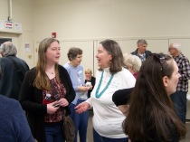 CeCe Otto speaking with Ginny Mapes - History Society Roundtable May 18, 2018