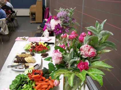 Flowers and snacks - History Society Roundtable May 18, 2018