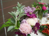 Flowers from Elaine's garden - History Society Roundtable May 18, 2018