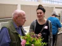 Garden Home School prinicipal Don Dunbar speaking with Nicole Shreve - History Society Roundtable May 18, 2018
