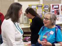Ginny Mapes speaking with Patty Bonney - History Society Roundtable May 18, 2018