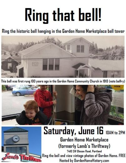 June 16, 2018 bell ringing poster