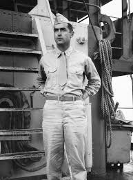 Curtis Tigard - Major Curtis Tigard on ship duty, circa 1945