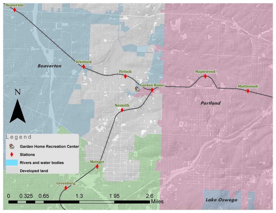 Slattery Research - OE railway maps - Garden Home detail
