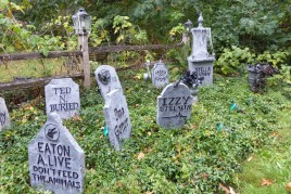 2018 Halloween - yet more graves - Kirstin Lurtz 7130 SW 82nd