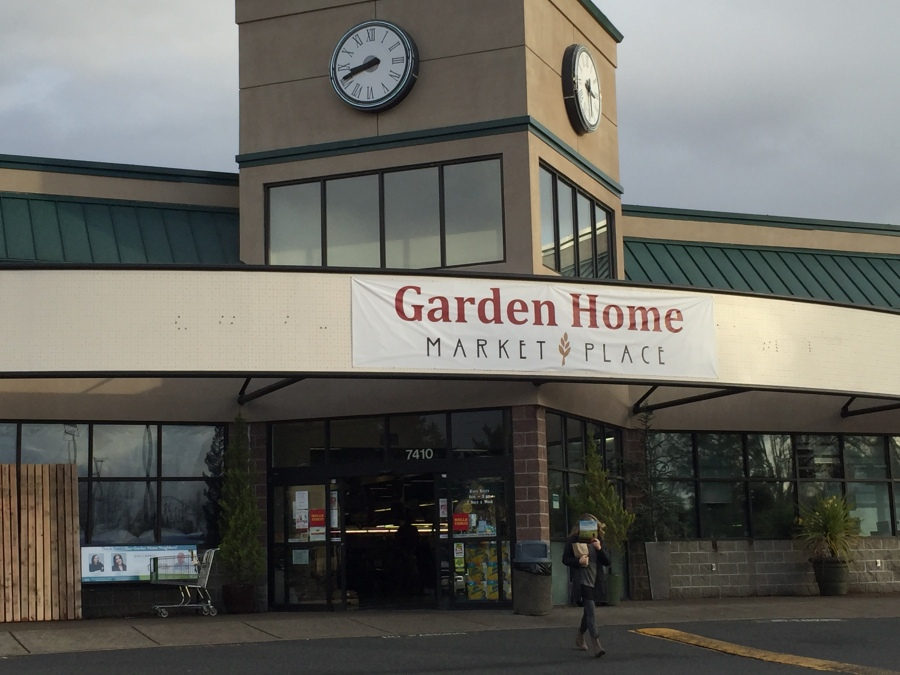 Garden Home Market Place temporary sign