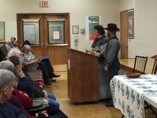 2019-01-08 history reenactment - Beaverton Historical Society