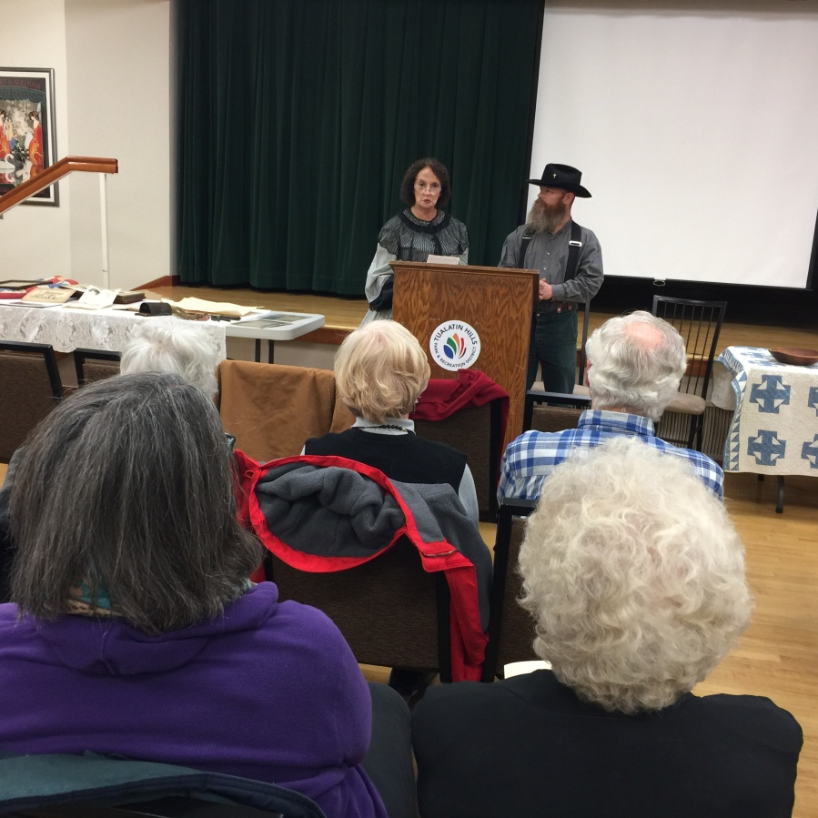 2019-01-08 history reenactment - Beaverton Historical Society