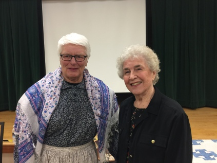 2019-01-08 history reenactment - Patsy VandeVenter and Elaine Shreve