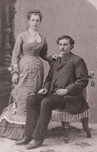 Polly Philena Patton 1856-1934 and Ole Oleson 1856-1942