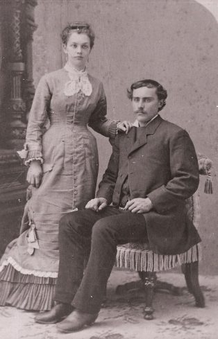 Polly Philena Patton 1856-1934 and Ole Oleson 1856-1942