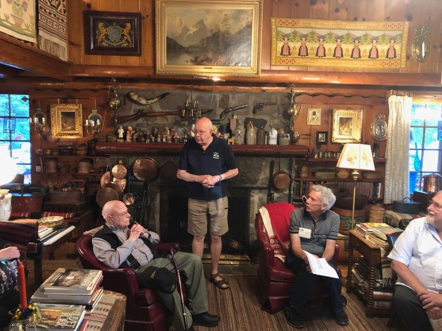 Fogelbo tour 2019 interior - Don Dunbar, Ross Fogelquist, Kevin Mistler, Jan Fredrickson