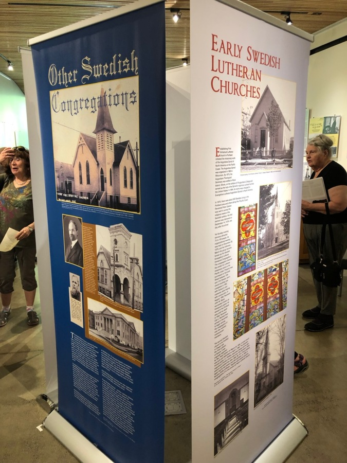 Nordia house event 6-2019 - From Sweden to Oregon exhibit - churches