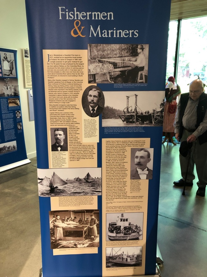 Nordia house event 6-2019 - From Sweden to Oregon exhibit - Fishermen and Mariners