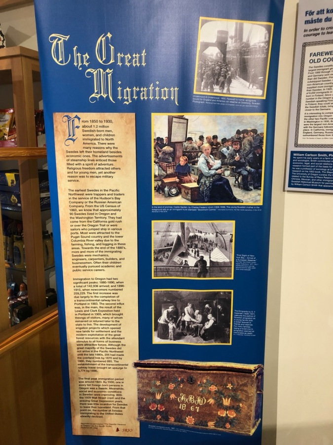 Nordia house event 6-2019 - From Sweden to Oregon exhibit - Great Migration