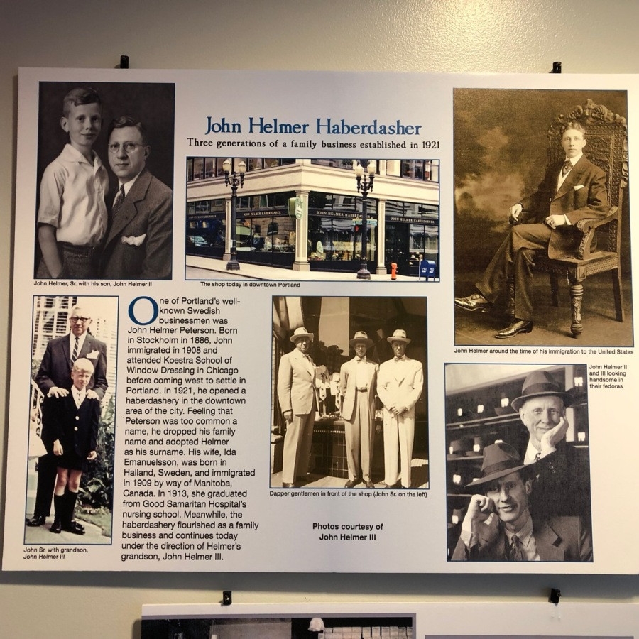 Nordia house event 6-2019 - From Sweden to Oregon exhibit - John Helmer