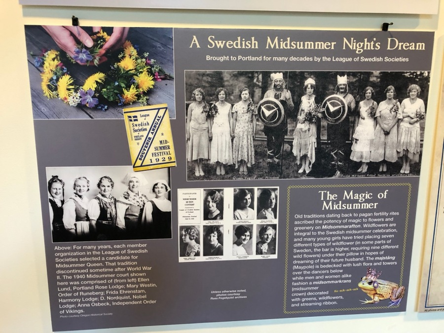 Nordia house event 6-2019 - From Sweden to Oregon exhibit - Midsummer dream