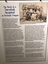 Nordia house event 6-2019 - From Sweden to Oregon exhibit - Swedish hospital
