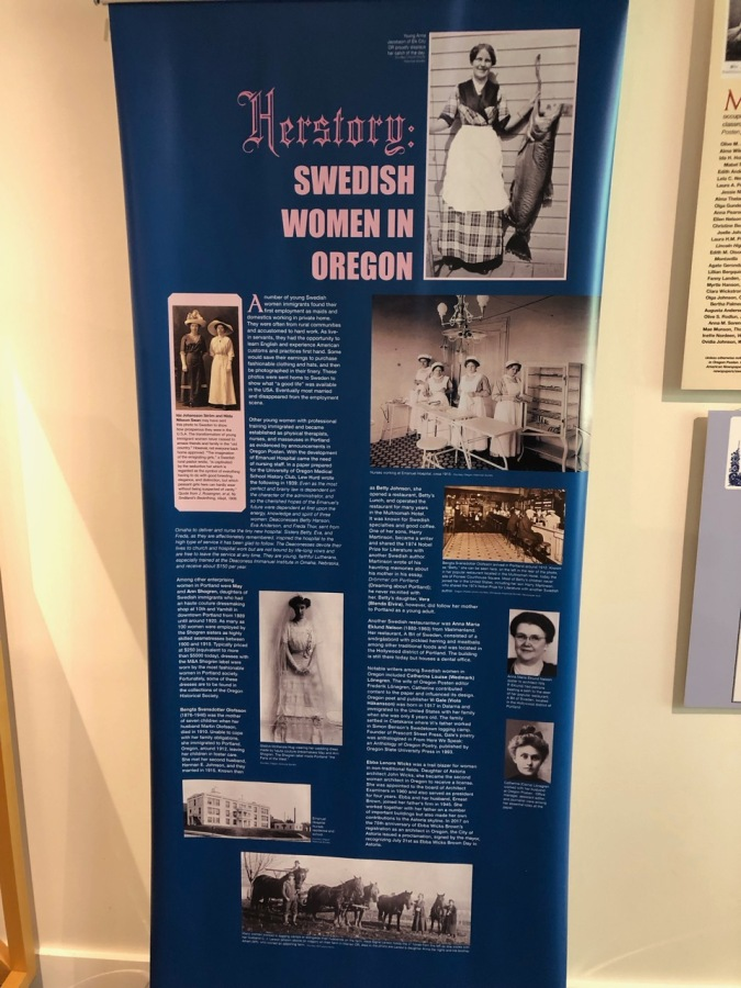 Nordia house event 6-2019 - From Sweden to Oregon exhibit - Swedish women