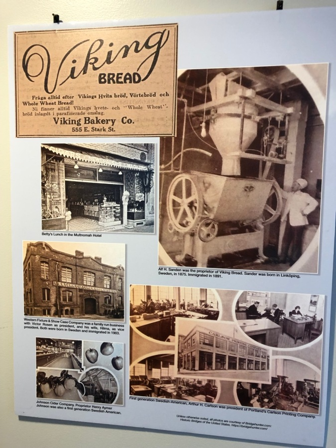 Nordia house event 6-2019 - From Sweden to Oregon exhibit - Viking Bread