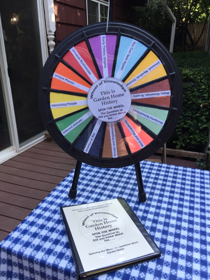 Wheel of Garden Home History game