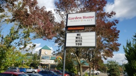 2019 Bell Ringing - Sign at Garden Home Road