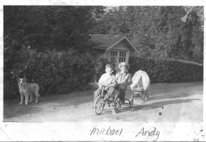 Michael and Andy Norris, 1940s