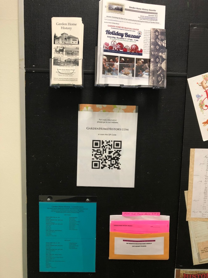 2020-04 GHRC hallway bulletin board display - brochures