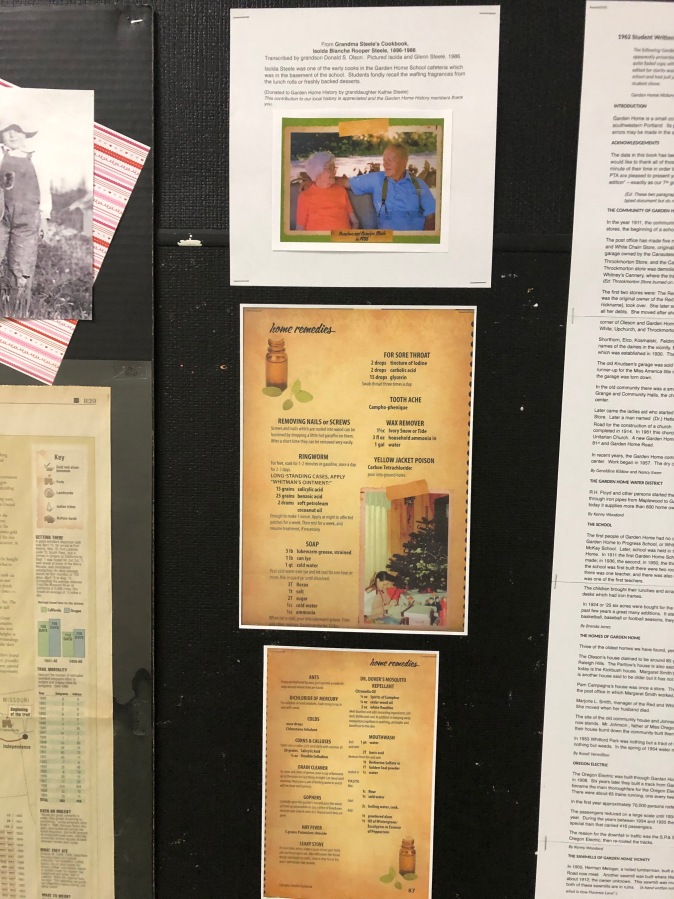 2020-04 GHRC hallway bulletin board display - home remedies