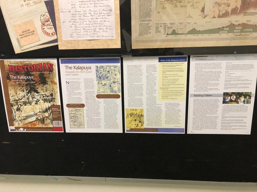 2020-04 GHRC hallway bulletin board display - native peoples