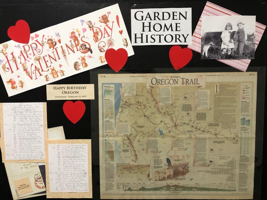 2020-04 GHRC hallway bulletin board display - Oregon Trail