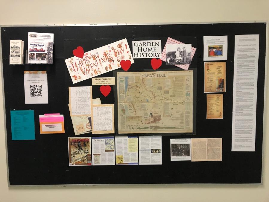 2020-04 GHRC hallway bulletin board display