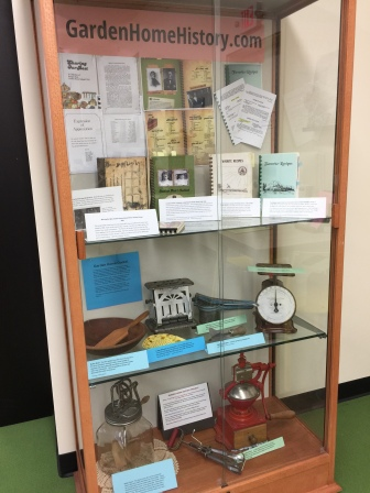 Cooking display cabinet in the Garden Home Community Library